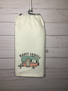 Happy Camper Dish Towel