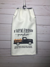 Farm Fresh Pumpkins Truck Dish Towel