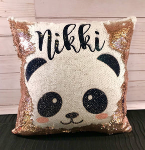 Panda Face Custom Mermaid Pillow