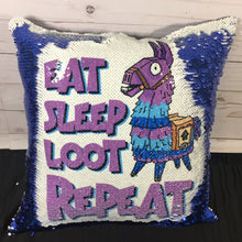 Eat Sleep Loot Repeat Fortnite Mermaid Pillow
