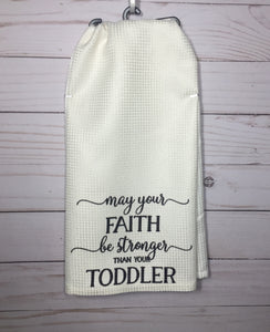 Toddler Faith Dish Towel