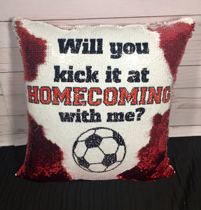 Kick It At Homecoming Proposal Mermaid Pillow