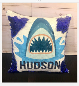 Shark Bite Mermaid Pillow