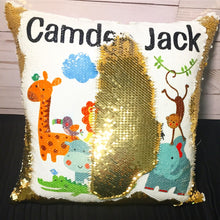 Safari Animals Custom Mermaid Pillow