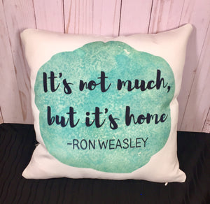 Ron Weasley Burlap or White Canvas Pillow- Harry Potter Inspired