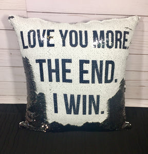 Love You More Mermaid Pillow