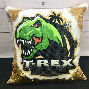 T Rex Dinosaur Mermaid Pillow