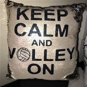 Keep Calm and Volley On Mermaid Pillow