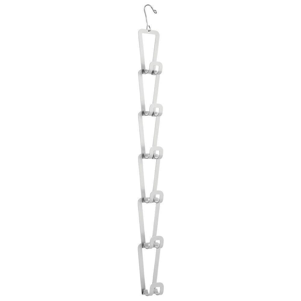 Top mdesign metal wire over the closet rod hanging storage organizer hanger for storing and organizing purses backpacks satchels crossovers handbags 6 hooks 6 pack gray