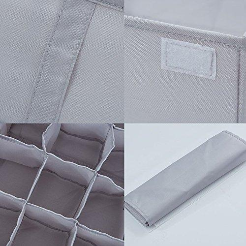 The best printemps foldable closet underwear organizer bras storage box clothes storage drawer basket bins containers with lids divider for apparel garments socks ties scarves white