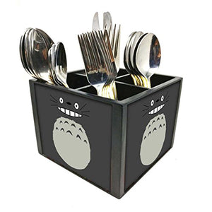 "Nutcase Designer Cutlery Stand Holder Silverware Caddy-Spoons Forks Knives Organizer for Dining Table & kitchen -W-5.75""x H -4.25""x L-5.5""-SPOONS NOT INCLUDED - Cartoon Beast"