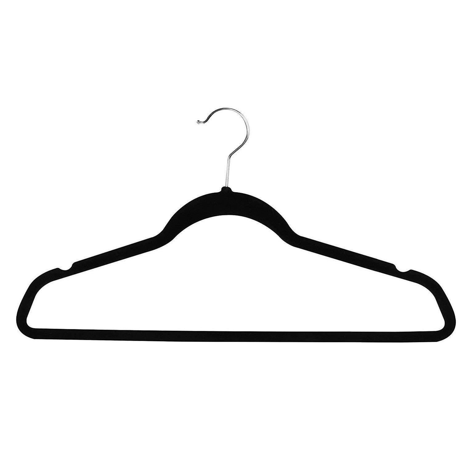 Buy now topgalaxy z velvet suit hangers 20 pack closet clothes hangers non slip hangers for coat hanger pants hangers dorm hangers black