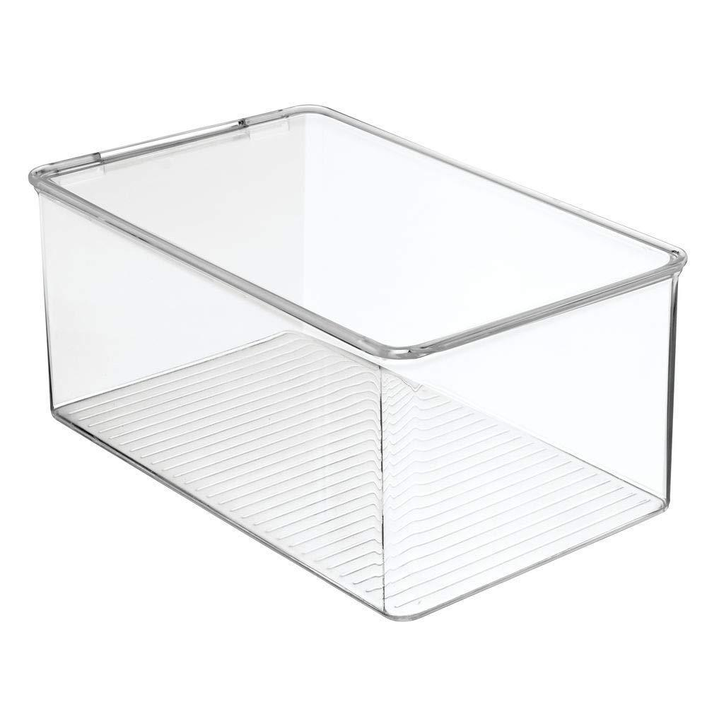 Shop mdesign stackable closet plastic storage bin box with lid container for organizing mens and womens shoes booties pumps sandals wedges flats heels and accessories 5 high 6 pack clear