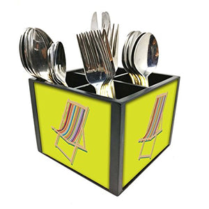 "Nutcase Designer Cutlery Stand Holder Silverware Caddy-Spoons Forks Knives Organizer for Dining Table & kitchen -W-5.75""x H -4.25""x L-5.5""-SPOONS NOT INCLUDED - Lazy Sun Chair"