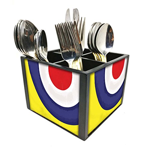 "Nutcase Designer Cutlery Stand Holder Silverware Caddy-Spoons Forks Knives Organizer for Dining Table & kitchen -W-5.75""x H -4.25""x L-5.5""-SPOONS NOT INCLUDED - Target"
