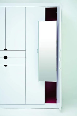 Online shopping rev a shelf pullout closet mirror satin nickel