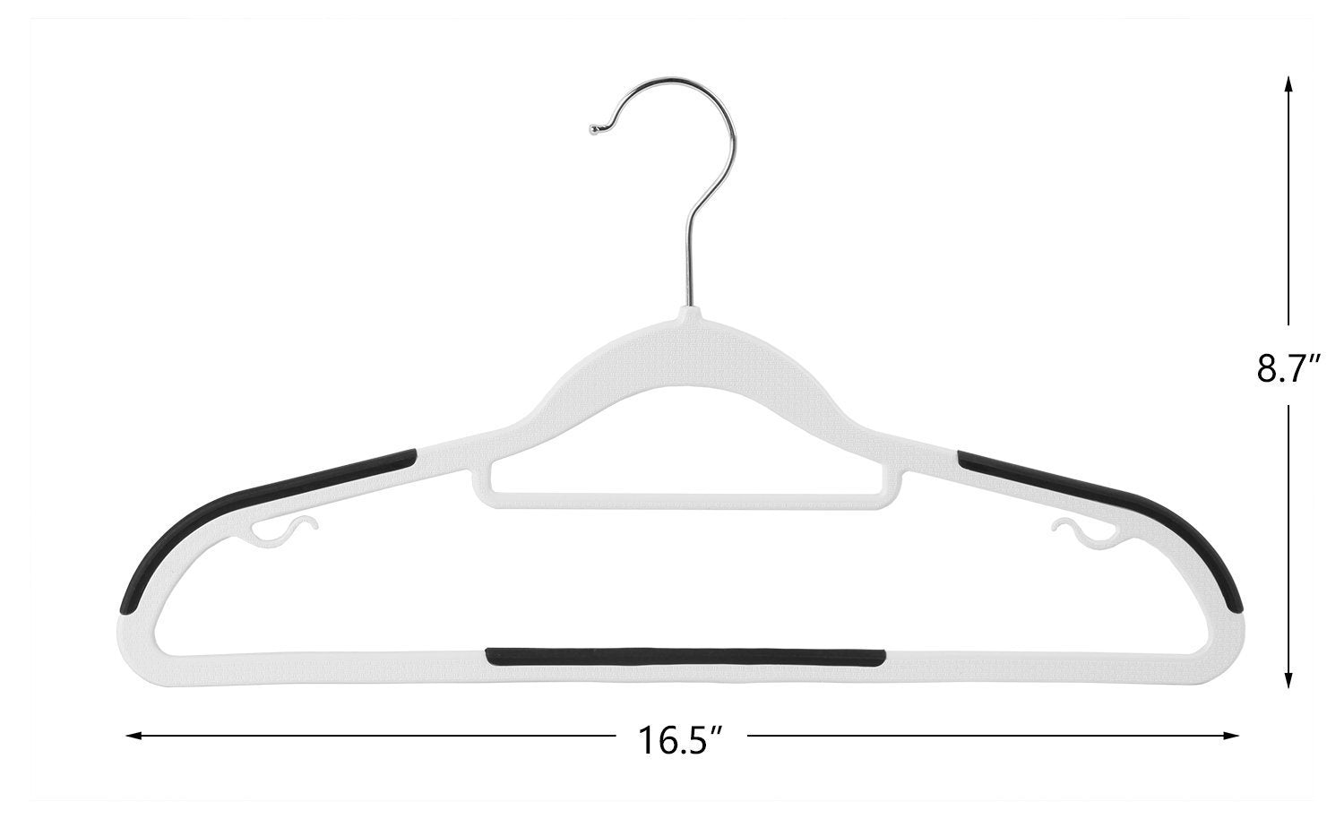 Best seller  finnhomy heavy duty 50 pack plastic hangers durable clothes hangers with non slip pads space saving organizer for bedroom closet great for shirts pants white