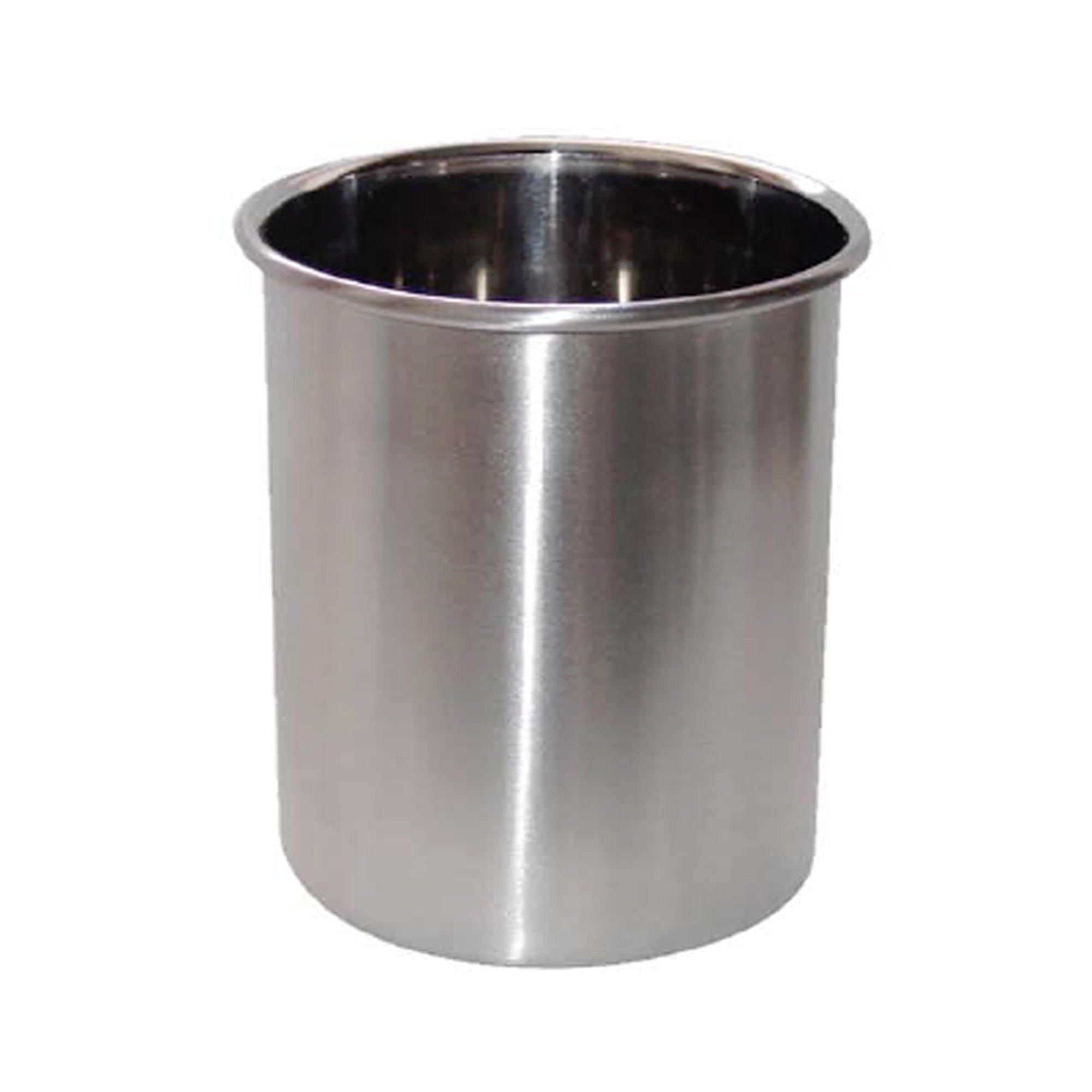 Great nu steel tg uh 8 utensils holder brushed 4 qtr plain 7 5 h x 7 5 w x 7 5 d