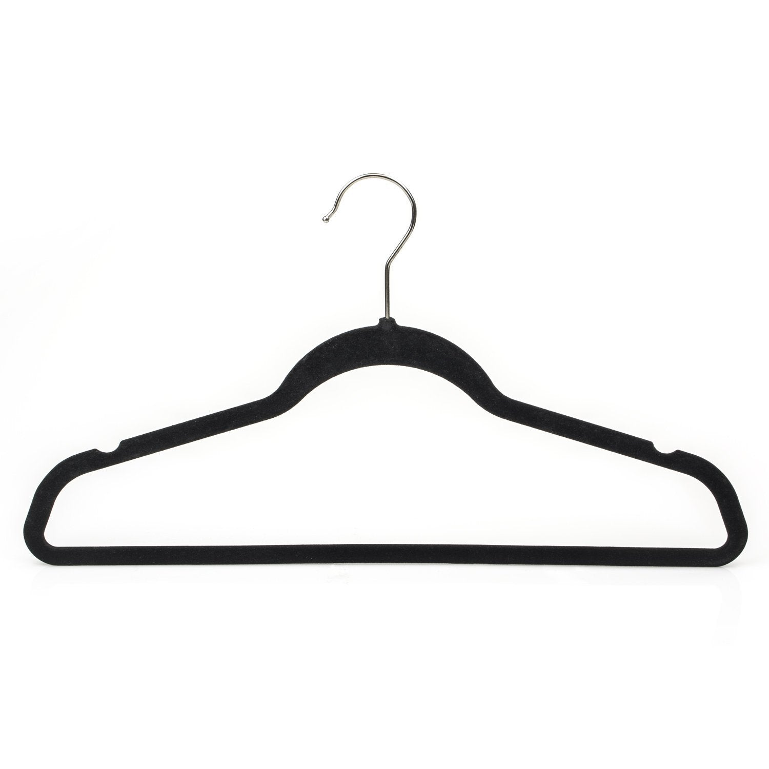 Budget michael graves design premium ultra thin non slip velvet clothing hangers flocked durable closet space saving chrome hook for garments suits dresses pants shirts coats 50 pack black