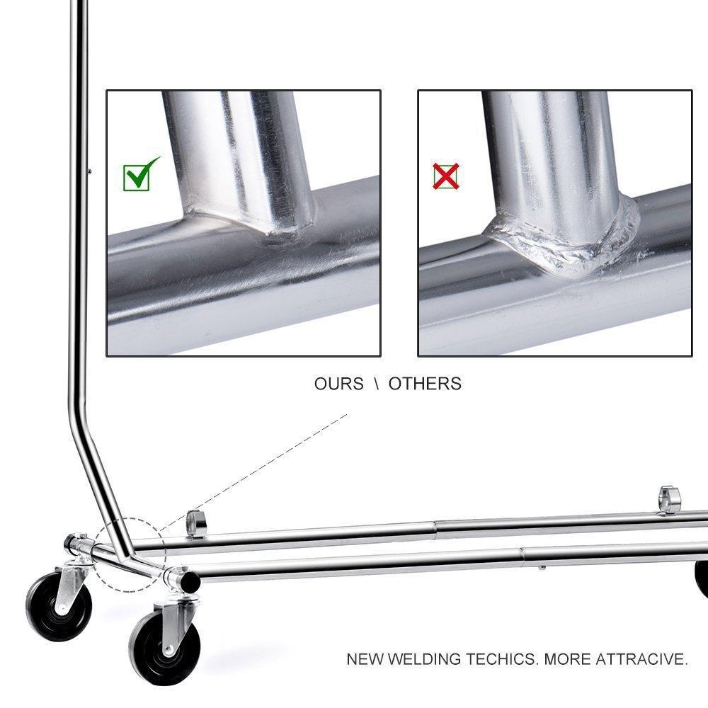 Home house day portable clothes rack portable closet rolling clothes rack foldable clothes stand commercial grade for professional use