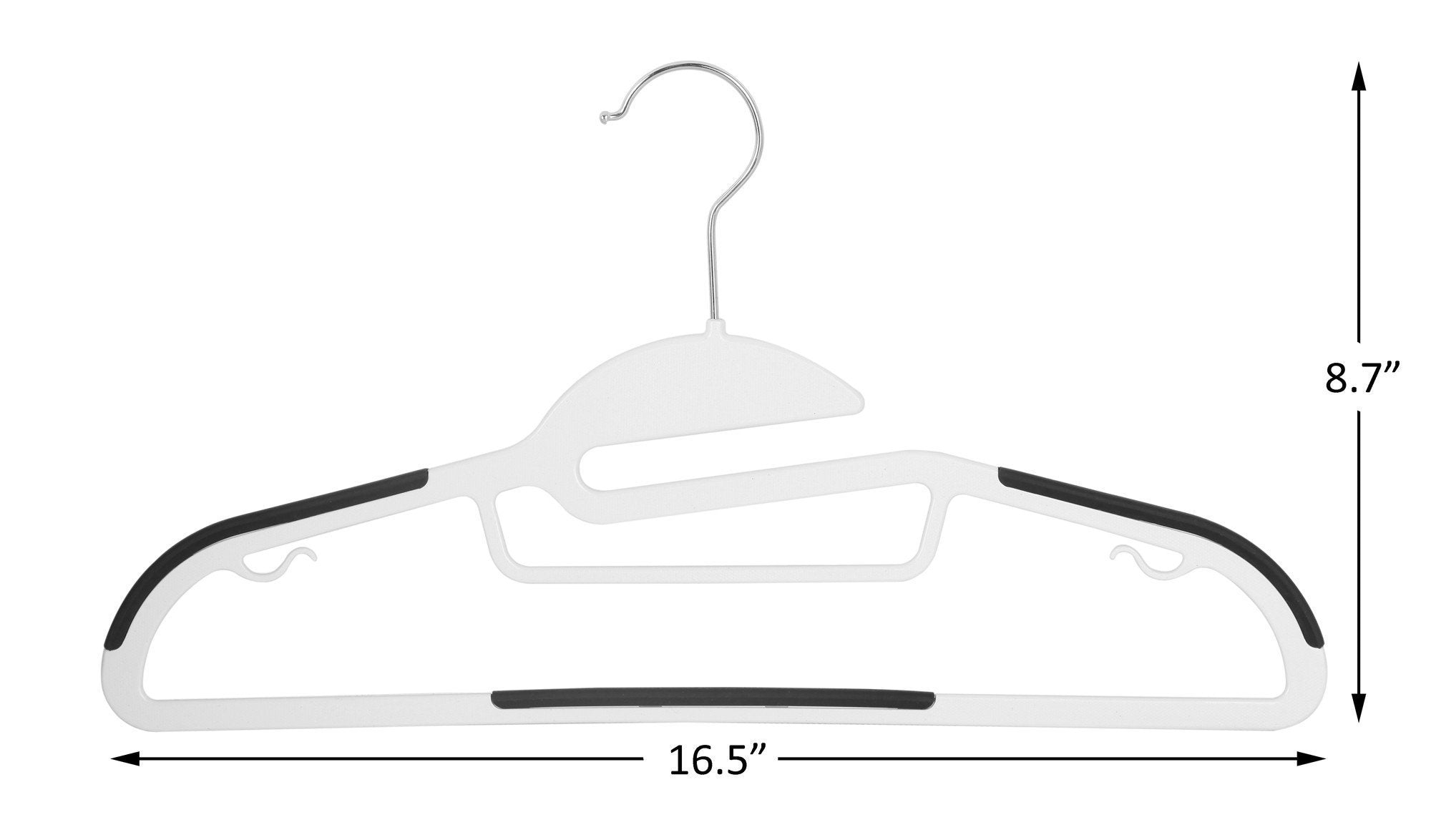 Amazon finnhomy heavy duty 50 pack plastic hangers durable clothes hangers with non slip pads space saving easy slide organizer for bedroom closet great for shirts pants white