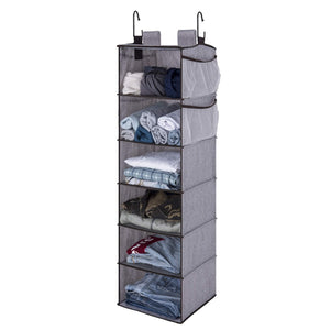 Great storageworks hanging closet organizer 6 shelf closet organizer 2 ways dorm closet organizers and storage sweater organizer for closet gray 12x12x42 inches