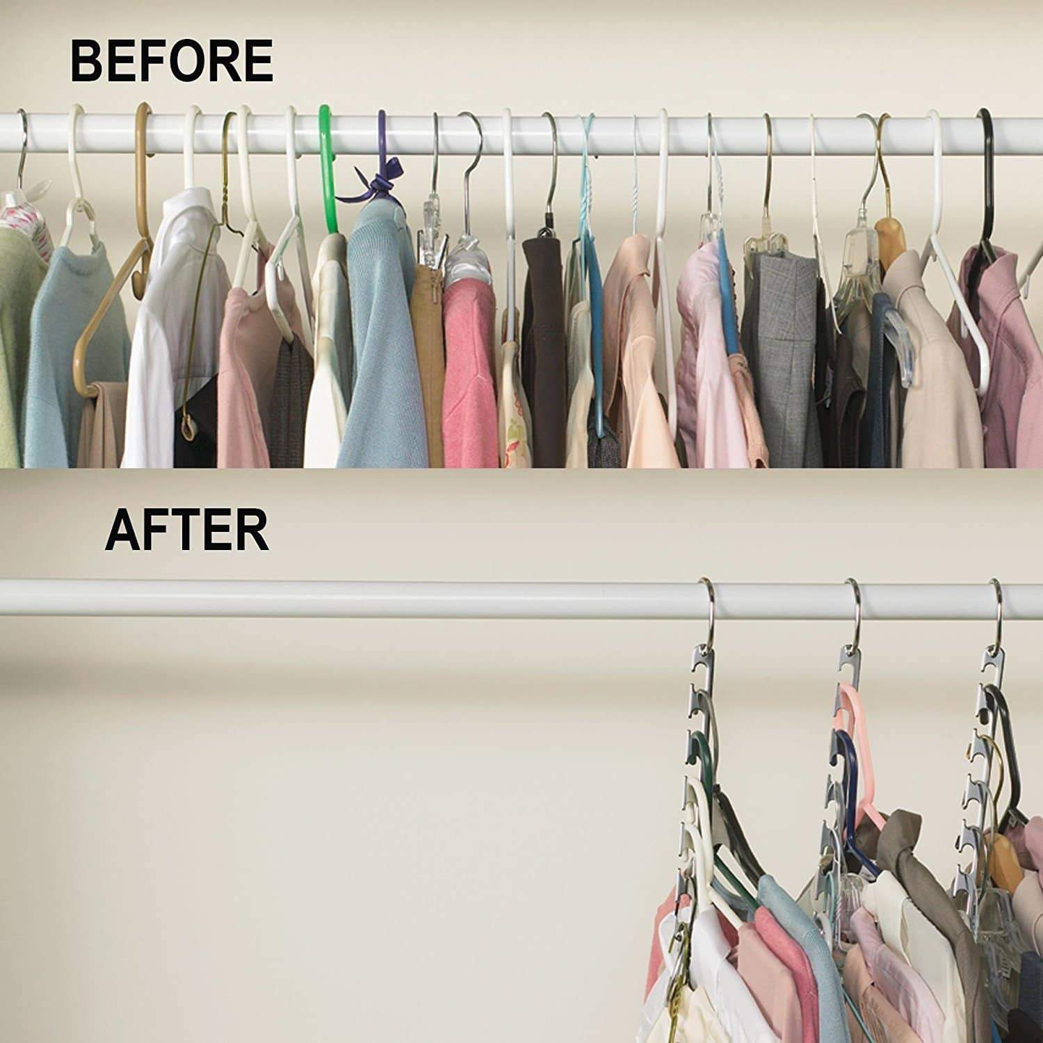 Best seller  premium presents closet organizer hanger save space closet hanging organizer clothes hangers coat hangers for wardrobe closet and closet storage brand comparable to wonder hangers 9 pack