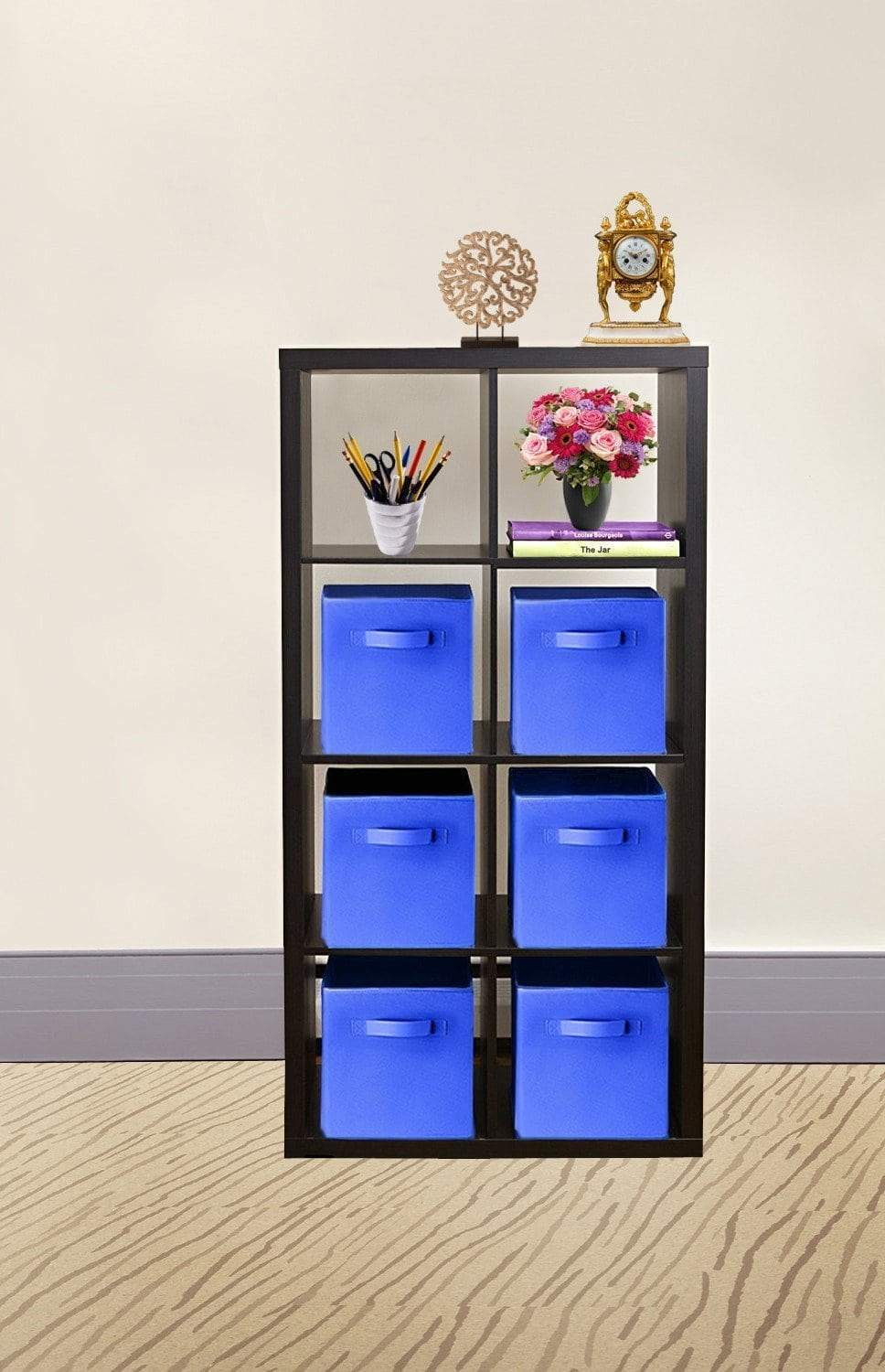 Top 30 pack blue storage cubes with two handles shelves baskets bins containers home decorative closet organizer household fabric cloth collapsible box toys storages drawer blue 30 pack