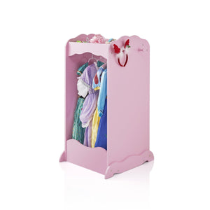 Latest guidecraft dress up cubby center pink costumes accessoires storage shelf and rack with mirror for little girls and boys toddlers wooden wardrobe closet