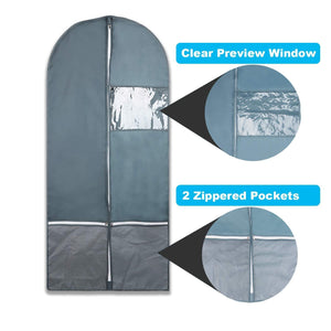 Shop for garment bag with pockets set dance costume bags 53 x 23 for dance competitions travel storage closet suits dress coat with 2 medium zipper pockets and 1 clear visible window pack of 3