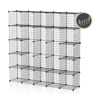 Results george danis wire storage cubes metal shelving unit portable closet wardrobe organizer multi use rack modular cubbies black 14 inches depth 5x5 tiers
