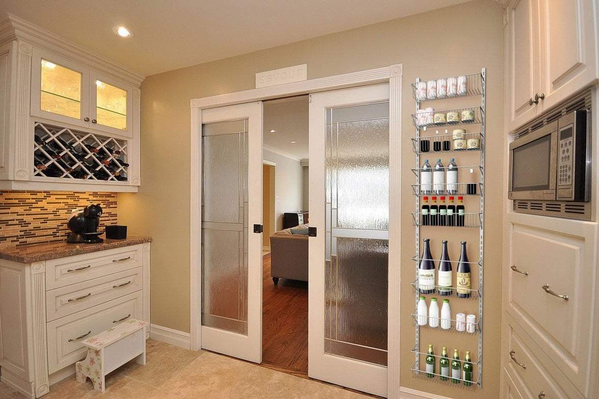 New home complete over the door organizer space saving hanging storage shelves for kitchen pantry closet for spices jars cleaning products and more