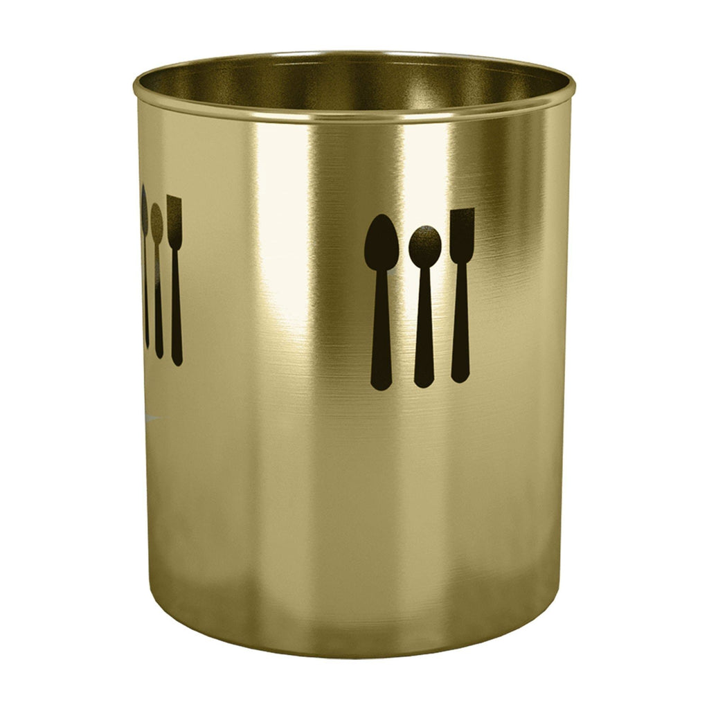 Top nu steel tg uh 16gl utensils holder 7 5 h x 7 5 w x 7 5 d gold color