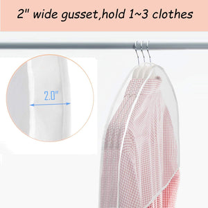 Purchase keegh garment shoulder covers bagset of 12 breathable closet suit organizer prevent clothes shoulder from dust 2 gusset hold more coats jackets dress