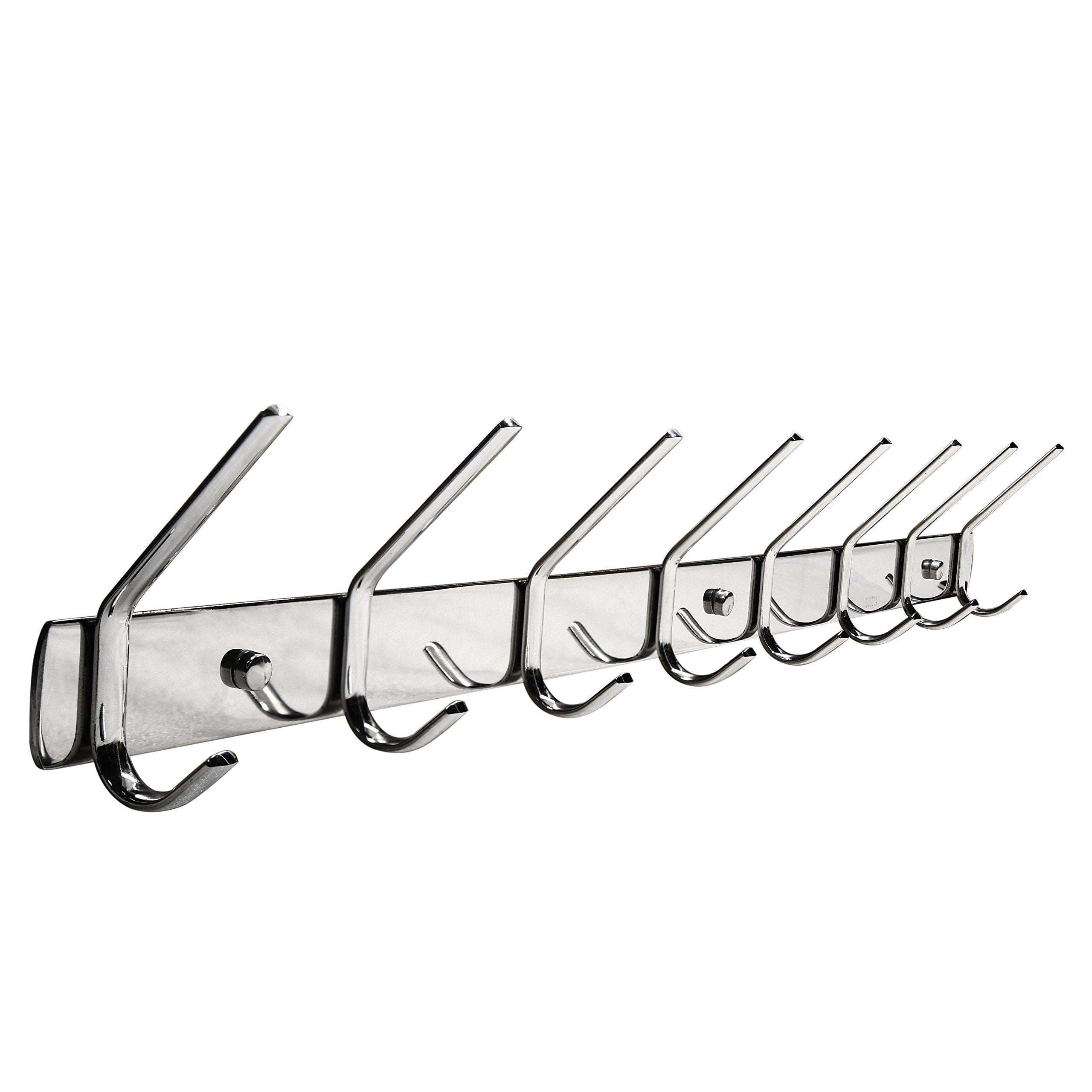 Discover the webi sus304 heavy duty 8 peg large coat hat hooks robe bath kitchen towel utensil utility garment rack hanger rail holder wall mount bedroom entryway garage bathroom home organization polished