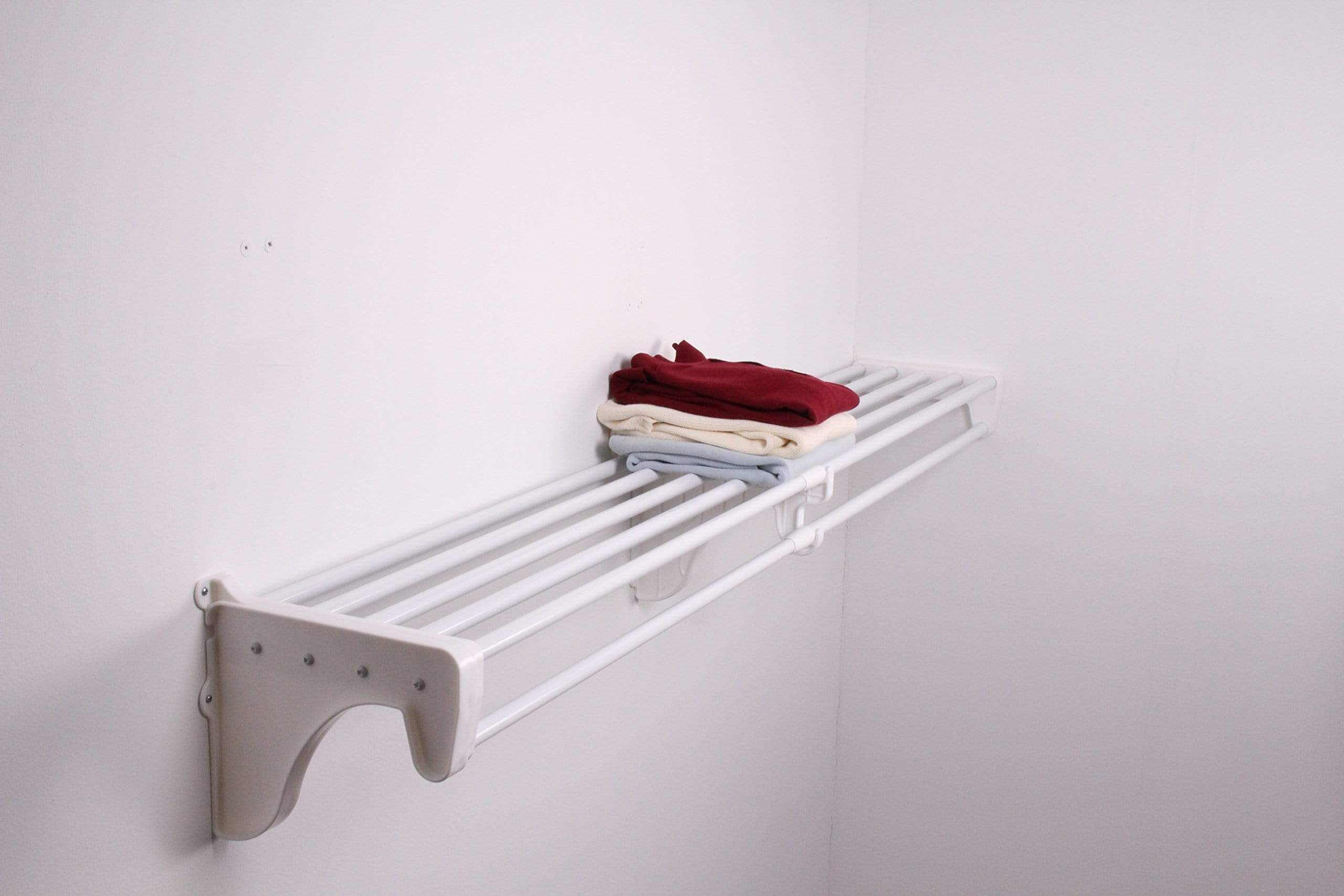Explore expandable closet rod and shelf units with 1 end bracket finish white