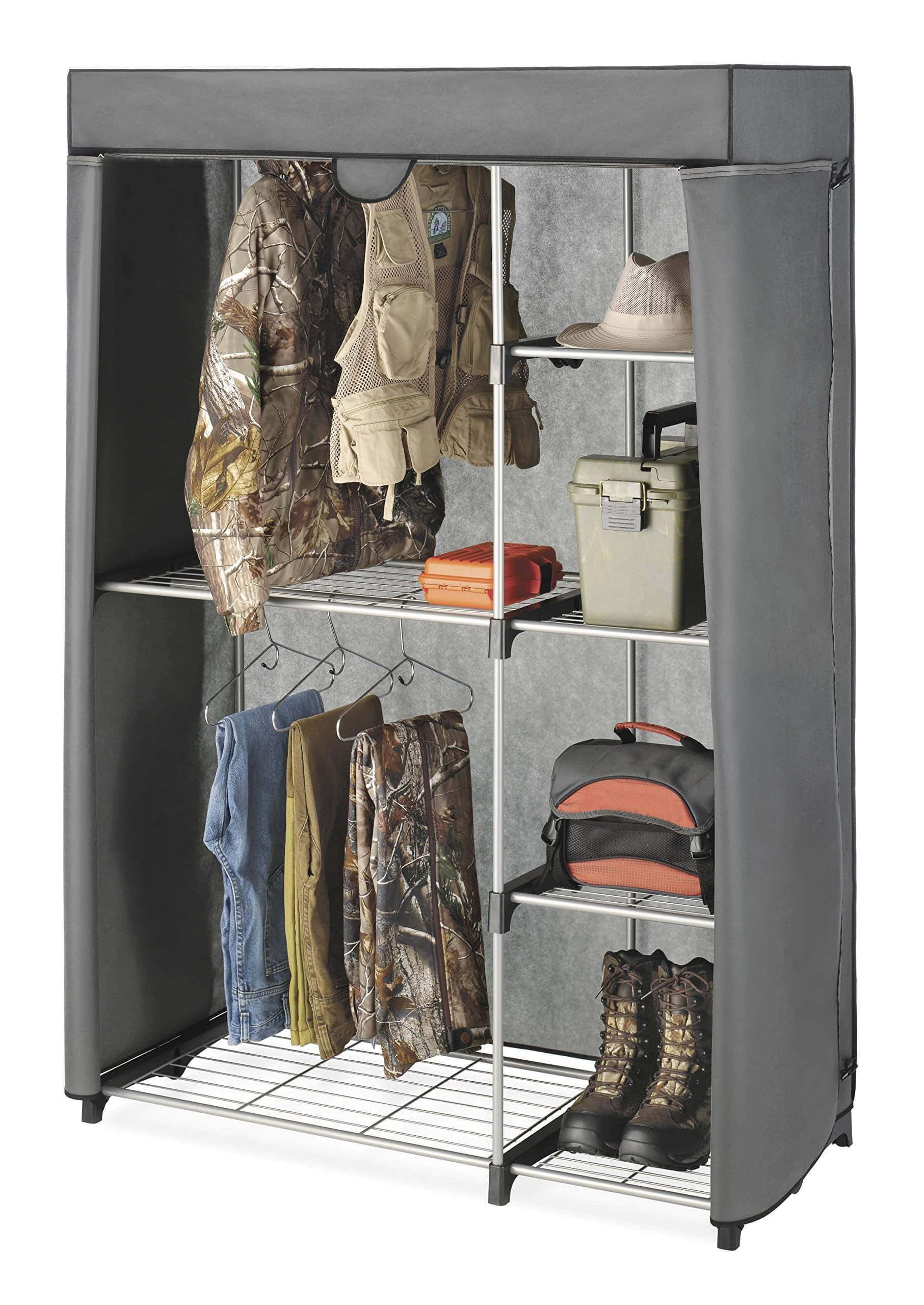 Select nice whitmor deluxe utility closet 5 extra strong shelves removable cover