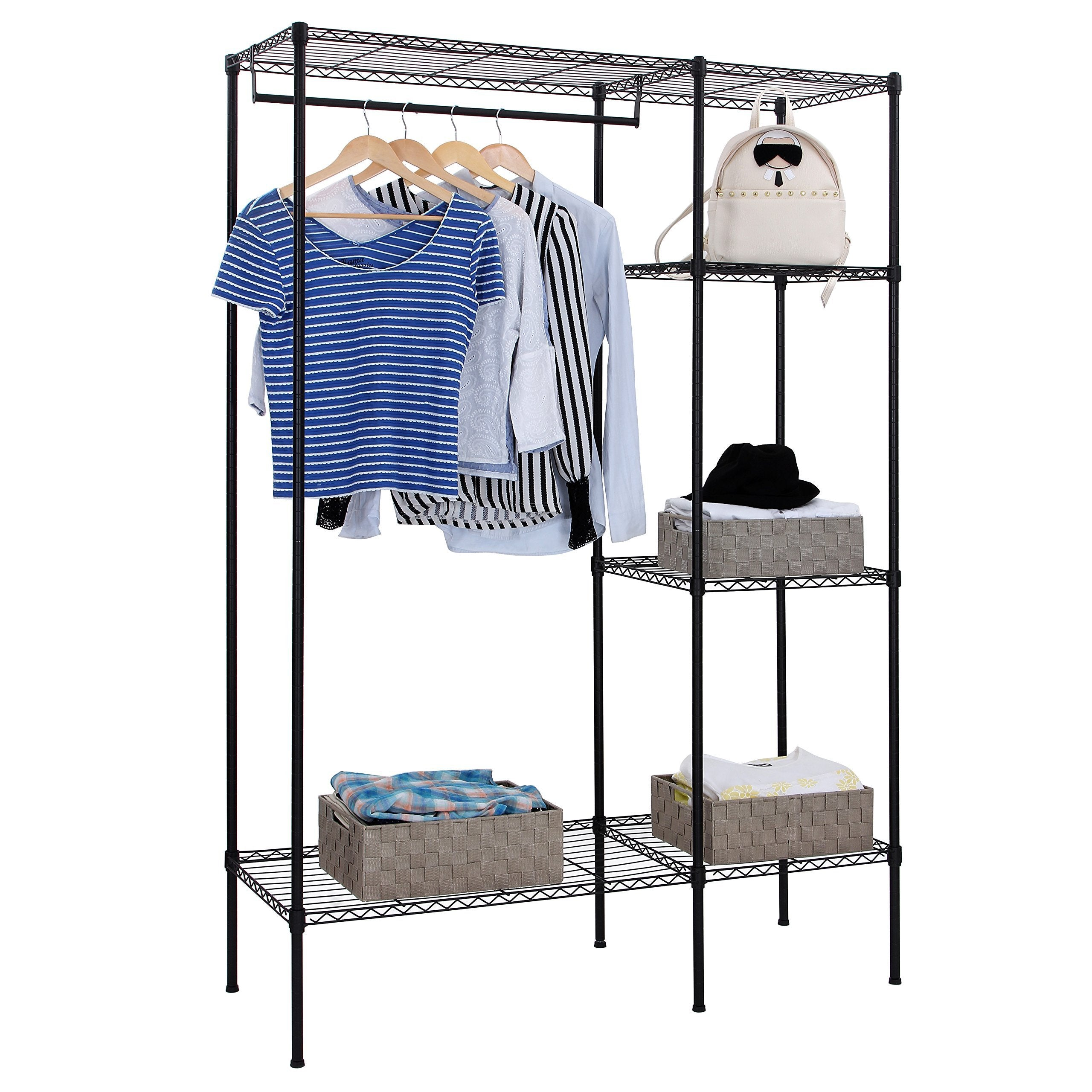 Best songmics extra large shelving garment rack heavy duty portable clothes wardrobe free standing closet storage organizer ulgr12p