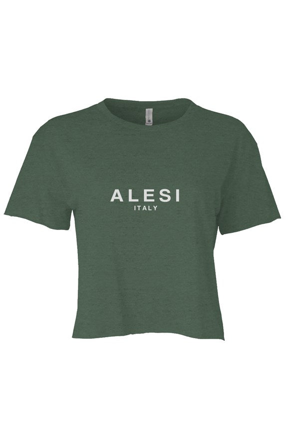 ALESI ITALY VINTAGE CROP TOP T-SHIRT