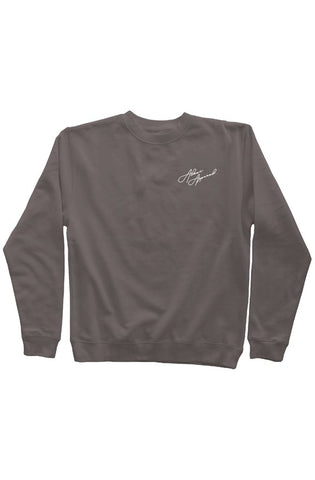 ALESI APPAREL EMBROIDERED PIGMENT DYED SWEATSHIRT