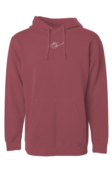 ALESI APPAREL EMBROIDERED PIGMENT DYED HOODIE