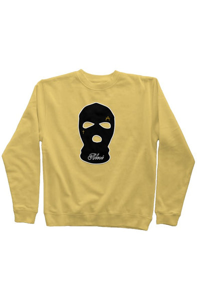 ALESI SKI MASK EMBROIDERED PIGMENT DYED SWEATSHIRT