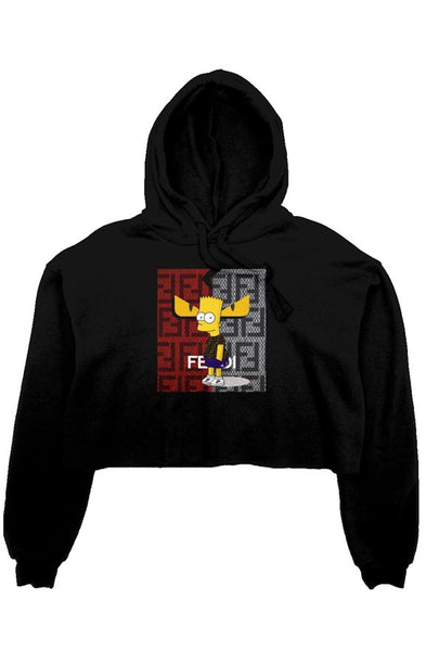 TDM TWO F'S CROP TOP HOODIE