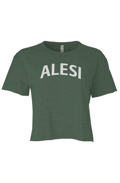 ALESI CROP TOP T-SHIRT/PINK LOGO