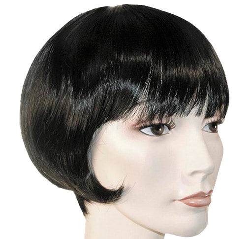 Lulu Black Flapper Wig