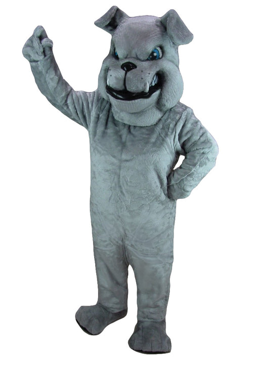 25426 Grey Bulldog Mascot Costume