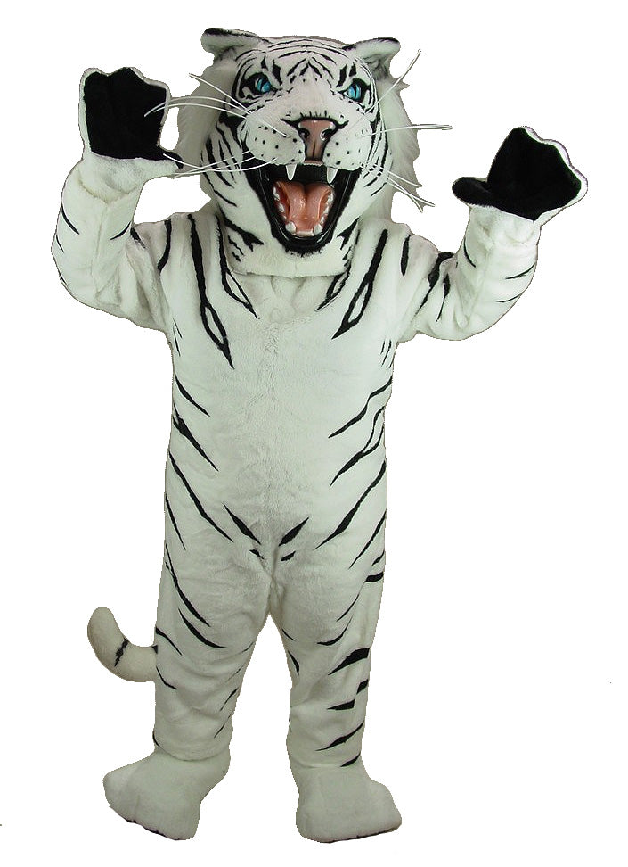 43074 White Albino Tiger Mascot Costume