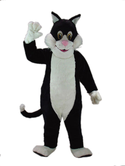 43087 Black Cartoon Cat Mascot Costume
