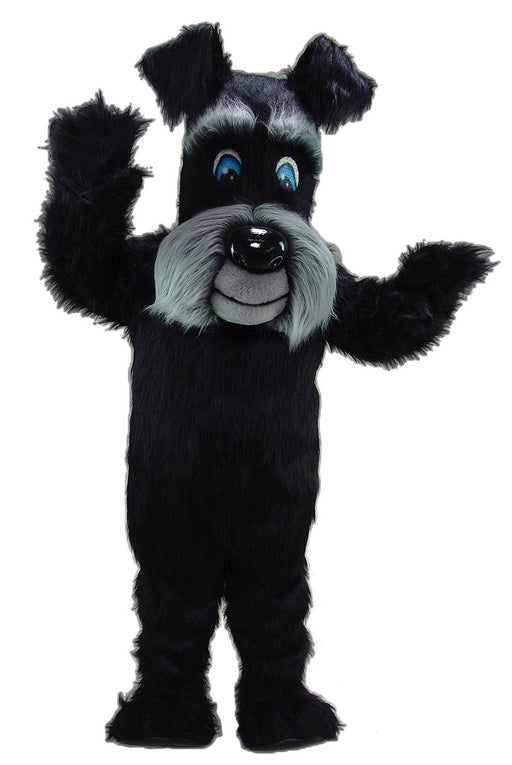 45128 Black Terrier Dog Mascot