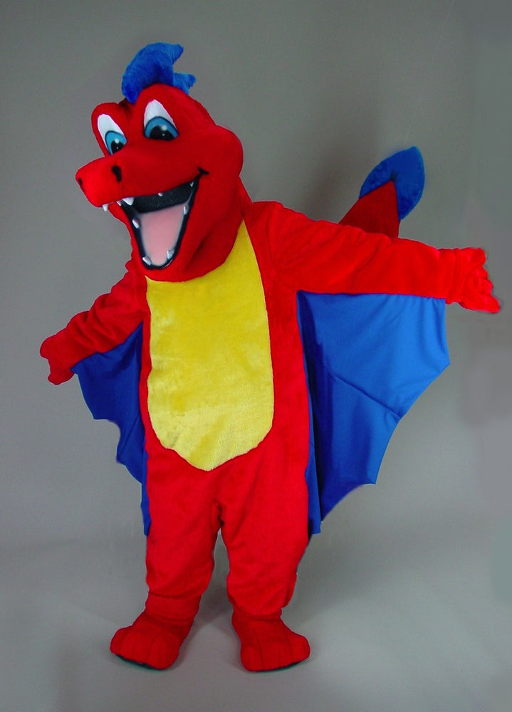 46107 Red Dragon Mascot Costume